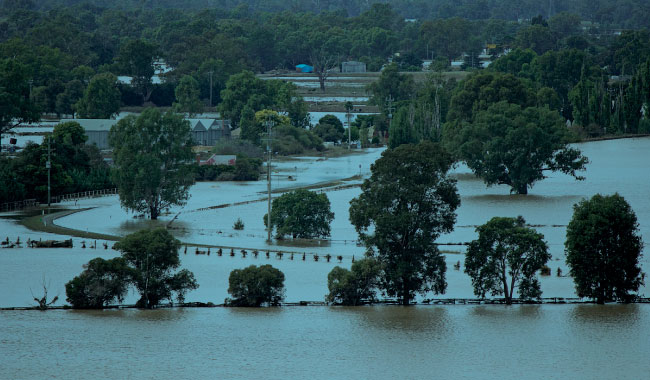 Flood image via wikimedia commons author Bidgee